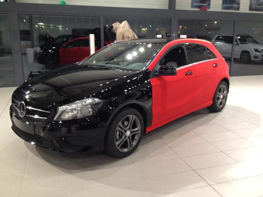 Оклейка автомобиля Mercedes-Benz