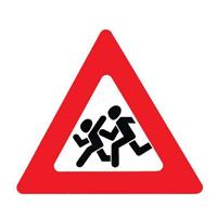дорожный знак, осторожно дети!